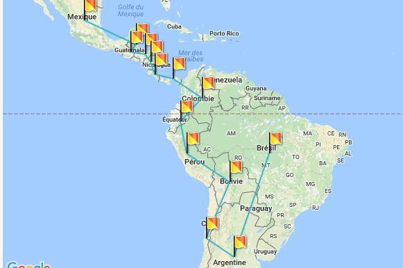 Bresil Mexique Carte.Du Mexique Au Bresil Pendant 1 An